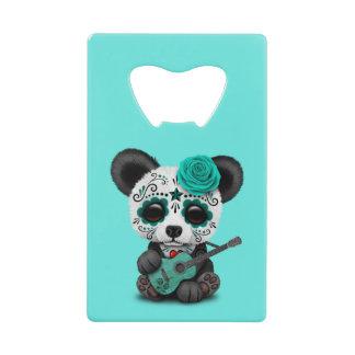 Blue Sugar Skull Panda Playing Guitar