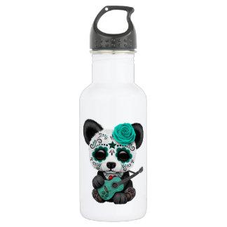 Blue Sugar Skull Panda Playing Guitar 532 Ml Water Bottle