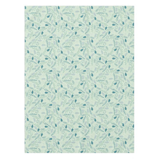 Blue Summer Leaves Pattern Tablecloth