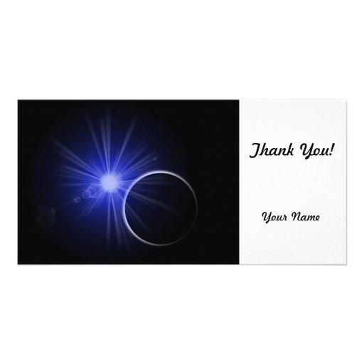 Blue Sun Black Planet Photo Card