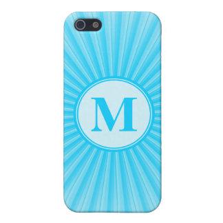 Blue Sun Monogram Customisable iPhone 5 Cover