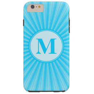 Blue Sun Monogram Customisable Tough iPhone 6 Plus Case