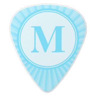 Blue Sun Monogram Personalised White Delrin Guitar Pick