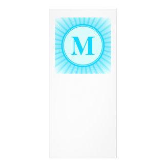 Blue Sun Monogram Personalised Rack Card