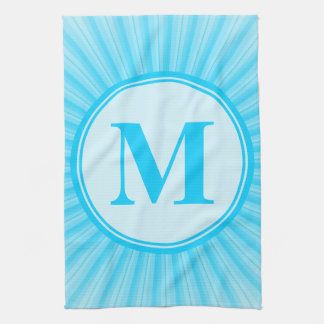 Blue Sun Monogram Personalised Towels