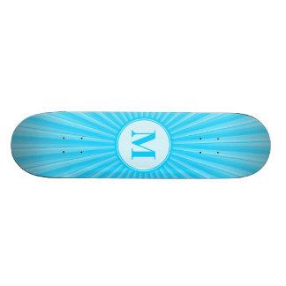 Blue Sun Monogram Skateboard