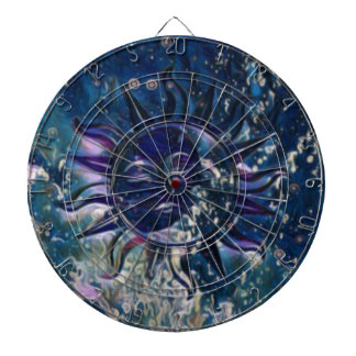Blue Sun Moon Dartboard