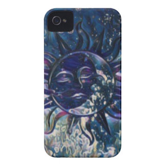 Blue Sun Moon iPhone 4 Cases