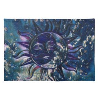 Blue Sun Moon Placemat