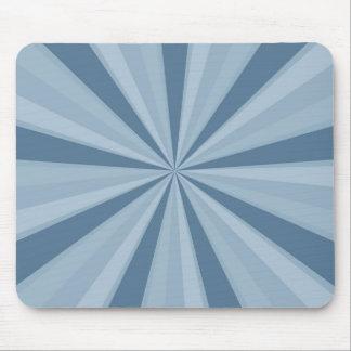 Blue Sunburst Mouse Pad