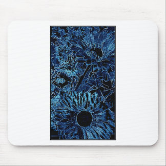 Blue SunFlower Design by Admiro Mouse Pads
