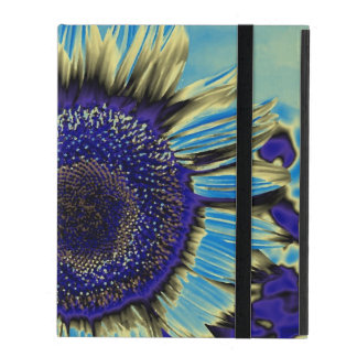 Blue Sunflower iPad Cover