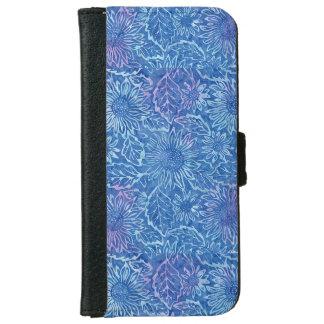 Blue Sunflower Iphone 6/6s Wallet Case