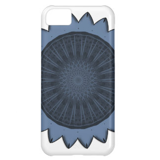 """Blue Sunflower"" Vector Art Cover For iPhone 5C"