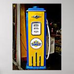 Blue Sunoco vintage gas pump Poster