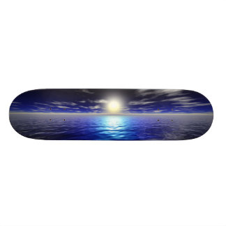 Blue Sunrise Skate Board Decks