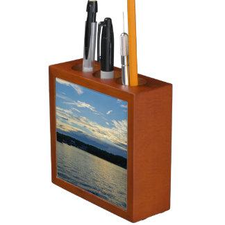 Blue Sunset Lake Of Ozarks Desk Organiser