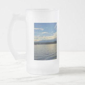 Blue Sunset Lake Of Ozarks Frosted Glass Beer Mug