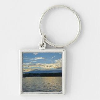 Blue Sunset Lake Of Ozarks Key Ring