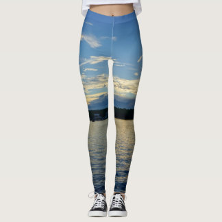 Blue Sunset Lake Of Ozarks Leggings