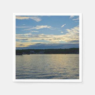 Blue Sunset Lake Of Ozarks Paper Napkins