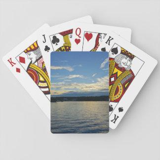 Blue Sunset Lake Of Ozarks Playing Cards