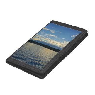 Blue Sunset Lake Of Ozarks Tri-fold Wallet