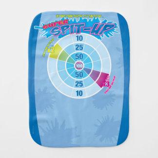 Blue Super Spit Up Funny Game Burp Cloth