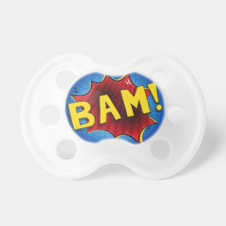 BLUE SuperBABY binky, Superhero baby pacifier gift