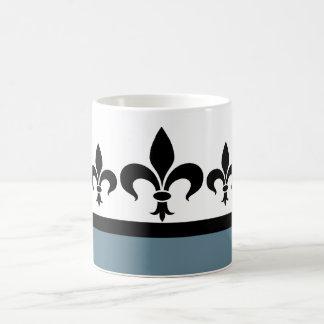 Blue Swanky Fleur De Lis Mug