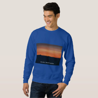 Blue Sweatshirt with Sunset Design