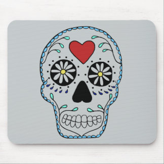 Blue Sweet Sugar Skull Mouse Pads