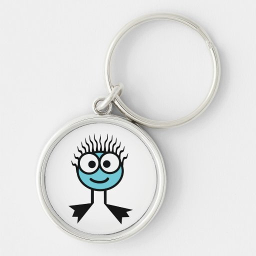 Blue Swim Character Key Ring Keychains