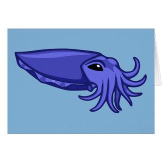 Blue Swimming Cuttlefish Card
