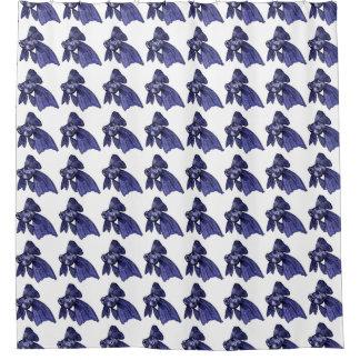 Blue Swimming Fish Shower Curtain