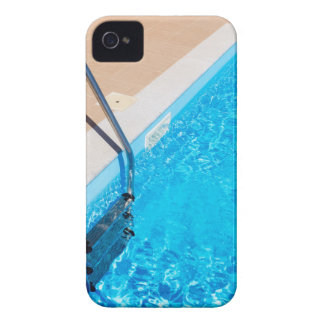 Blue swimming pool with ladder iPhone 4 case