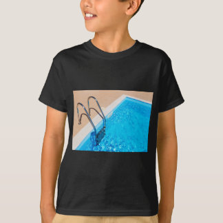 Blue swimming pool with ladder T-Shirt