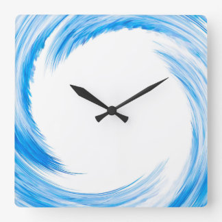 Blue Swirl Abstract Art Wallclocks