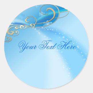 Blue Swirl Christmas Envelope Sticker/seal Round Sticker
