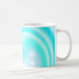 Blue swirl liquid texture coffee mug