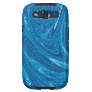 Blue Swirl Marble Galaxy SIII Case