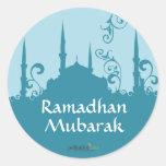 Blue Swirl Mosque Stickers
