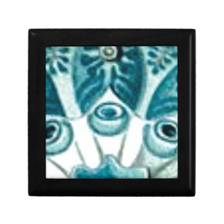 blue swirl pattern gift box