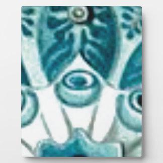 blue swirl pattern plaque