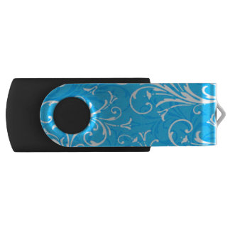 Blue Swirl Pattern USB Flash Drive