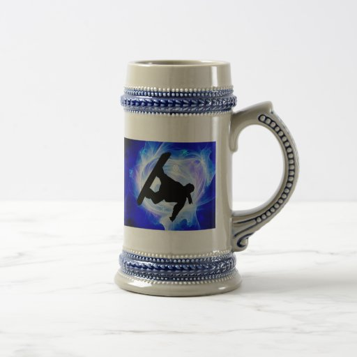 Blue Swirl Snowstorm Mugs