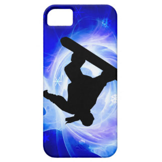 Blue Swirl Snowstorm Snowboard Barely There iPhone 5 Case