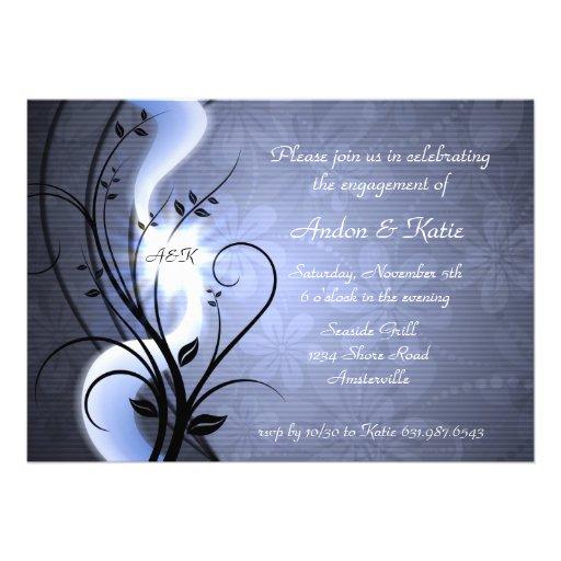 Blue Swirls Invitation