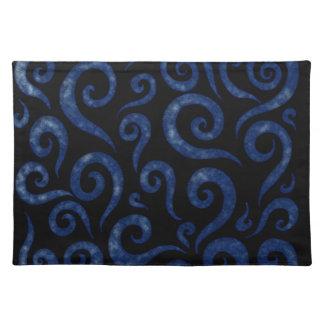 Blue Swirls Pattern Placemat