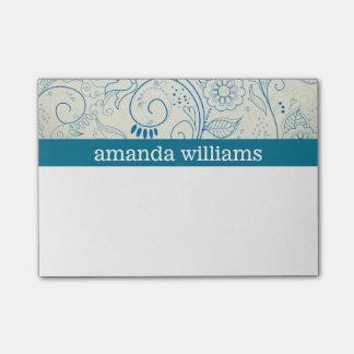 Blue Swirls Post-it Notes